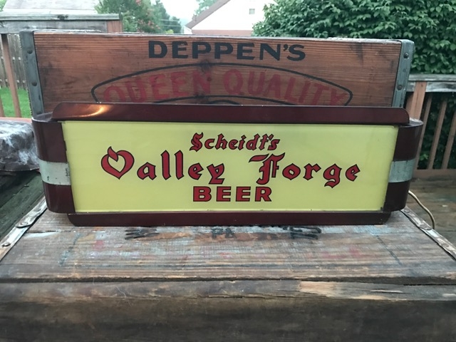 scheidts valley forge beer lighted gillco sign