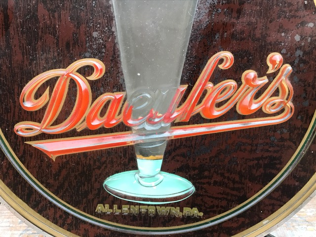 daeufers beer glass lighted sign brunhoff manufacturing company