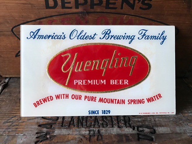 yuengling premium beer glass sign beeco inc