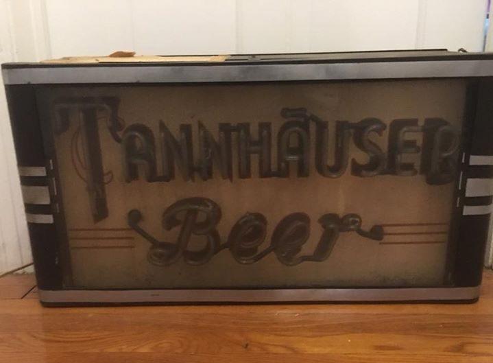 tannhauser beer beth uhh brewery biltmore sign company artkraft