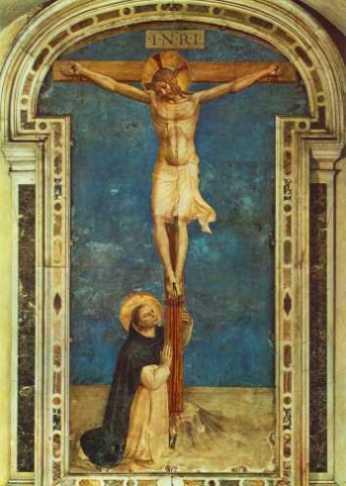 Fra Angelico: Św. Dominik adorujący Krzyż