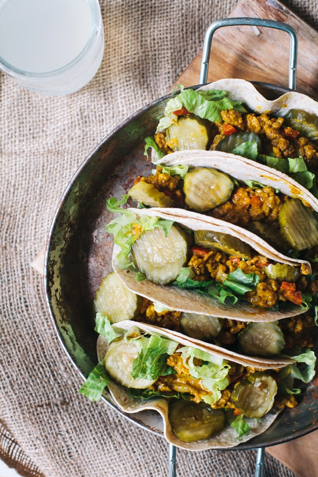 cheeseburger tacos gone healthy!