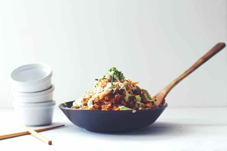 """Korean Barbecue"" Tofu and Sticky Rice"