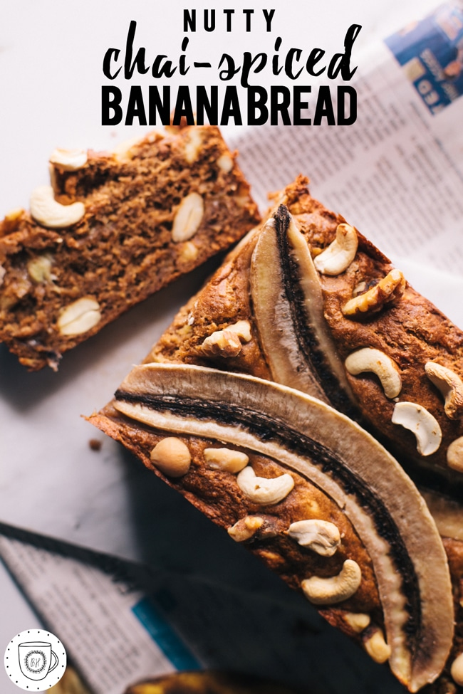 1 bowl banana bread with nuts and chai-spices (oh and did I mention that it's #dairyfree #eggfree and refined sugar free?) BOOM.