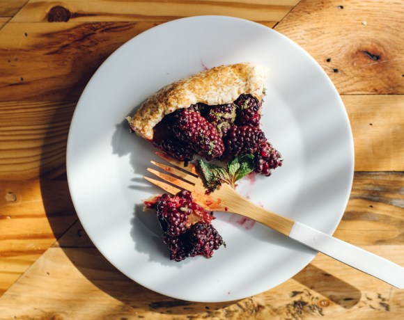 Blackberry Mint Galette | Brewing Happiness