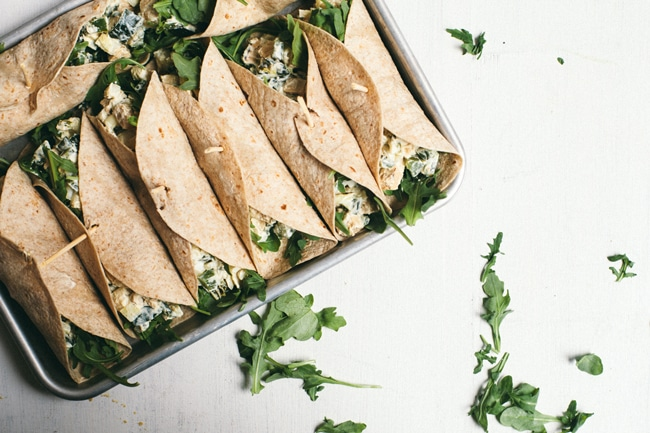 Mexican Chicken Salad Wraps
