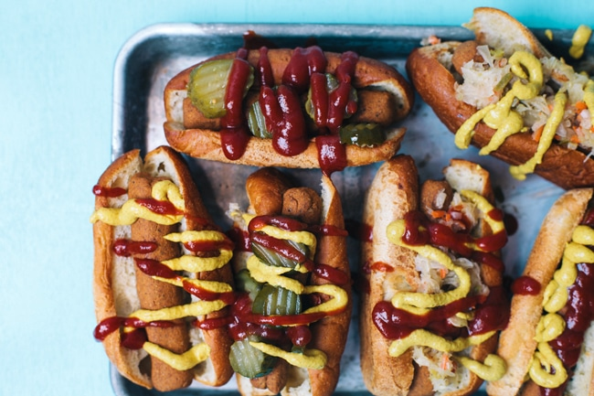 baked vegetarian hot dogs