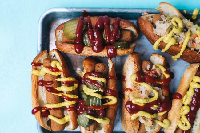 baked vegetarian hot dogs