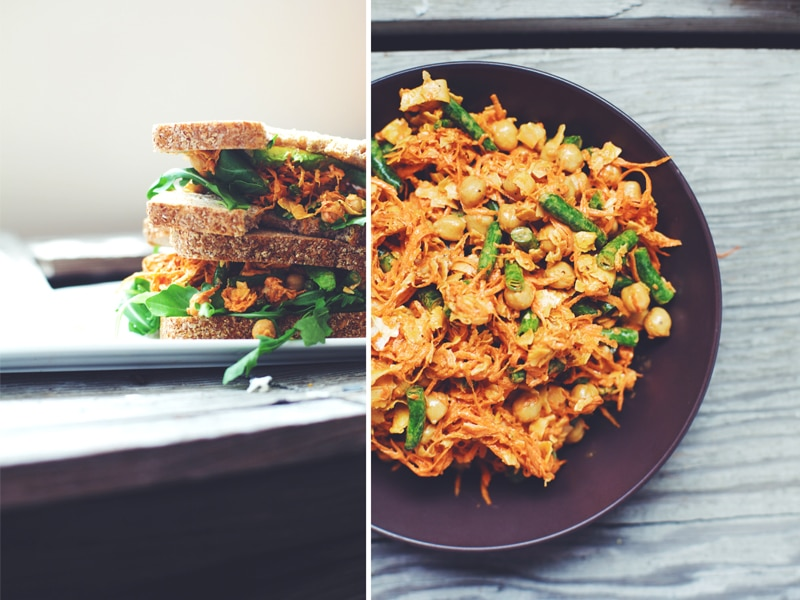 Carrot-Chickpea Slaw Sandwich