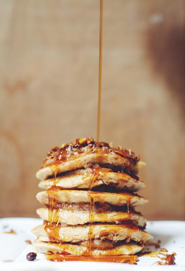 savory granola pancakes