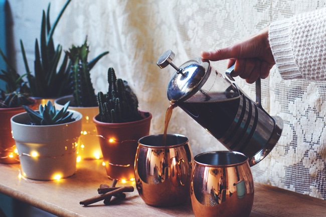 coconut chai made with coconut water espresso
