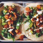 #vegan bbq tofu dinner wrap