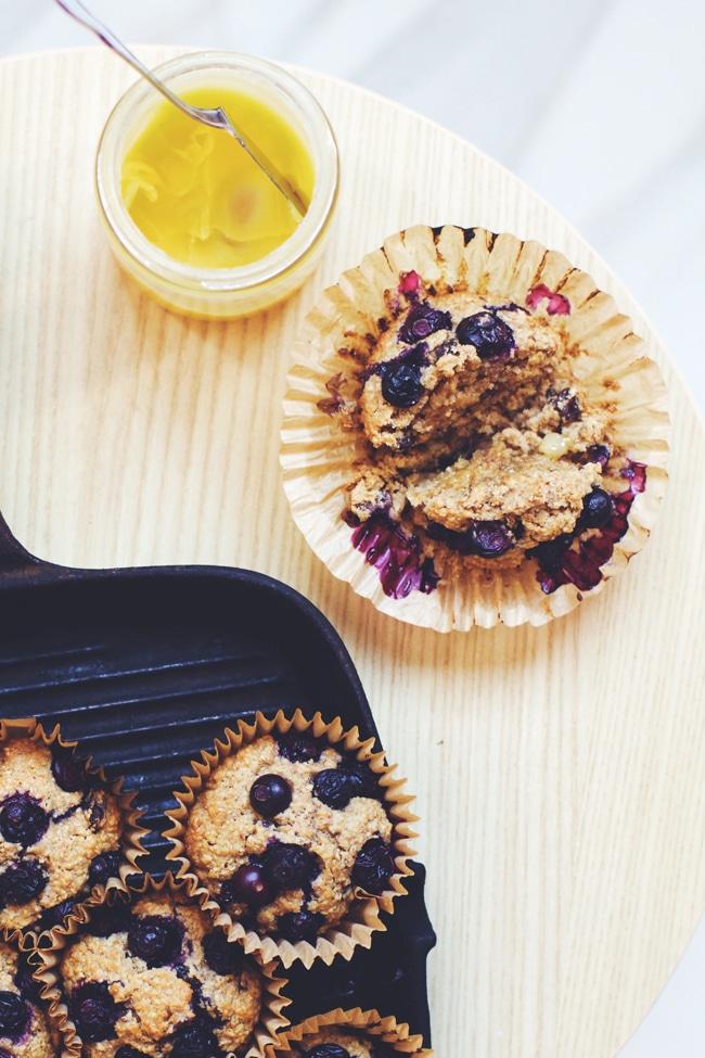 date blueberry bran muffins
