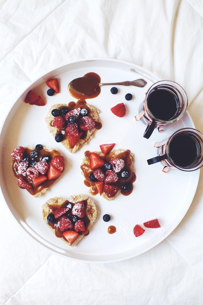 valentines day breakfast in bed! #vegan