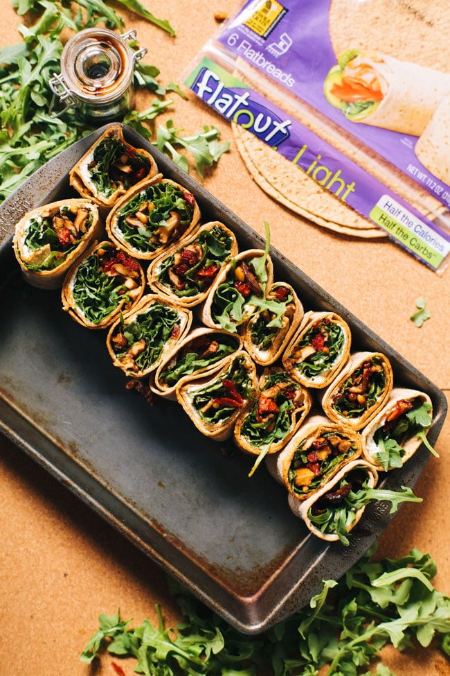 rustic wraps made with Flatout bread