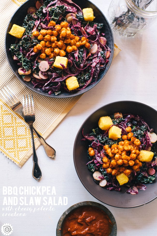 superfood slaw and bbq chickpeas