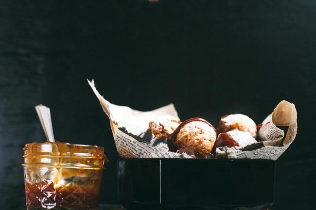 lemon cream and donut holes