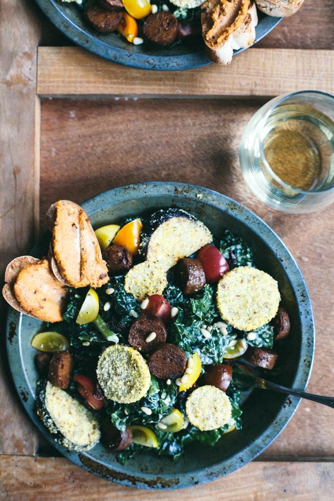 meatless tuscan kale salad