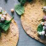 chickpea salad lunch wrap