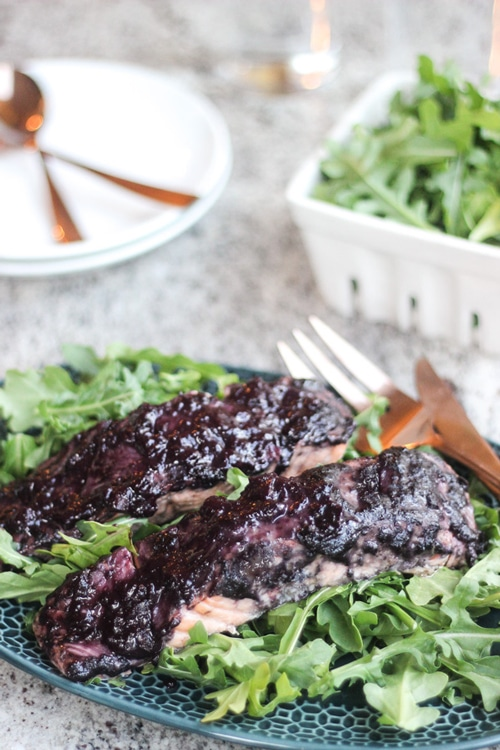 roasted-salmon-with-blueberry-bbq-sauce---wicked-spatula