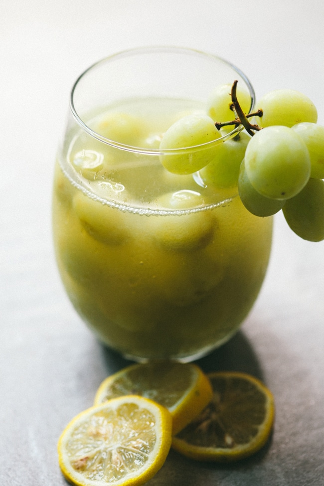green grape sangria