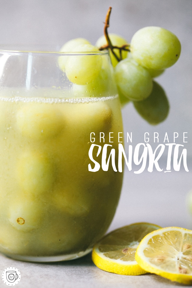 delicious summer sangria with green grapes