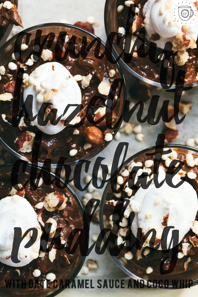 health-ified hazelnut chocolate pudding