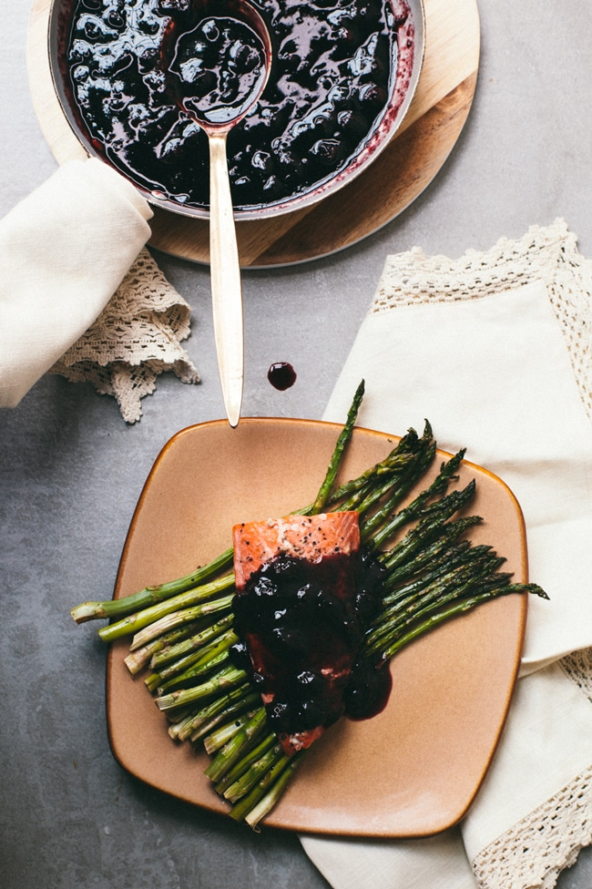orange blueberry balsamic sauce