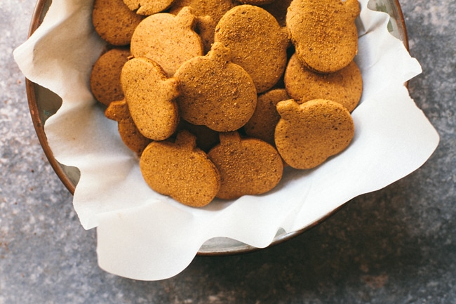 Pumpkin Gingerbread Cookies | Brewing Happiness