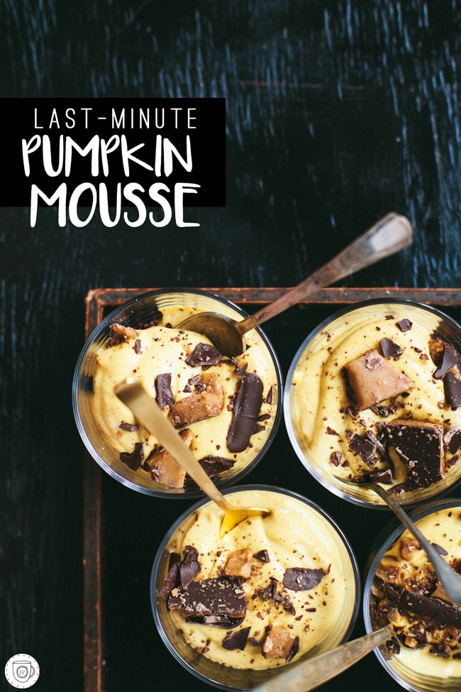 Last-Minute Pumpkin Mousse | Brewing Happiness