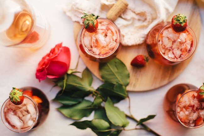 Vodka Rosé Valentines Day Sparkler | Brewing Happiness