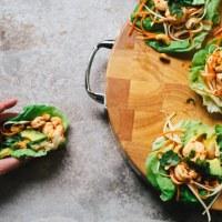Sweet Thai Chili Shrimp Lettuce Wraps | Brewing Happiness