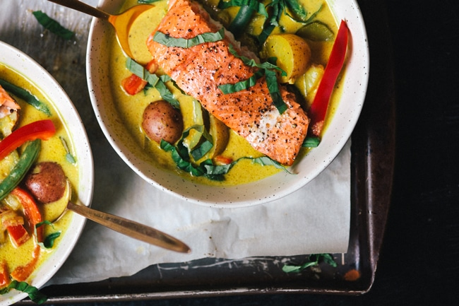 Whole30 Approved Salmon and Potato Curry