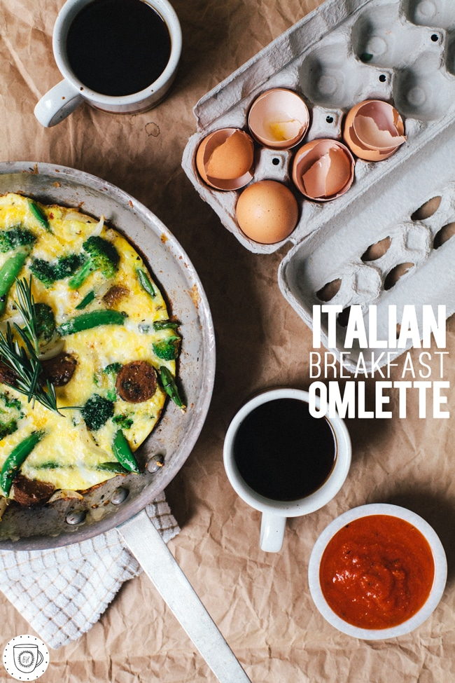 Italian Breakfast Omelette | Brewing Happiness