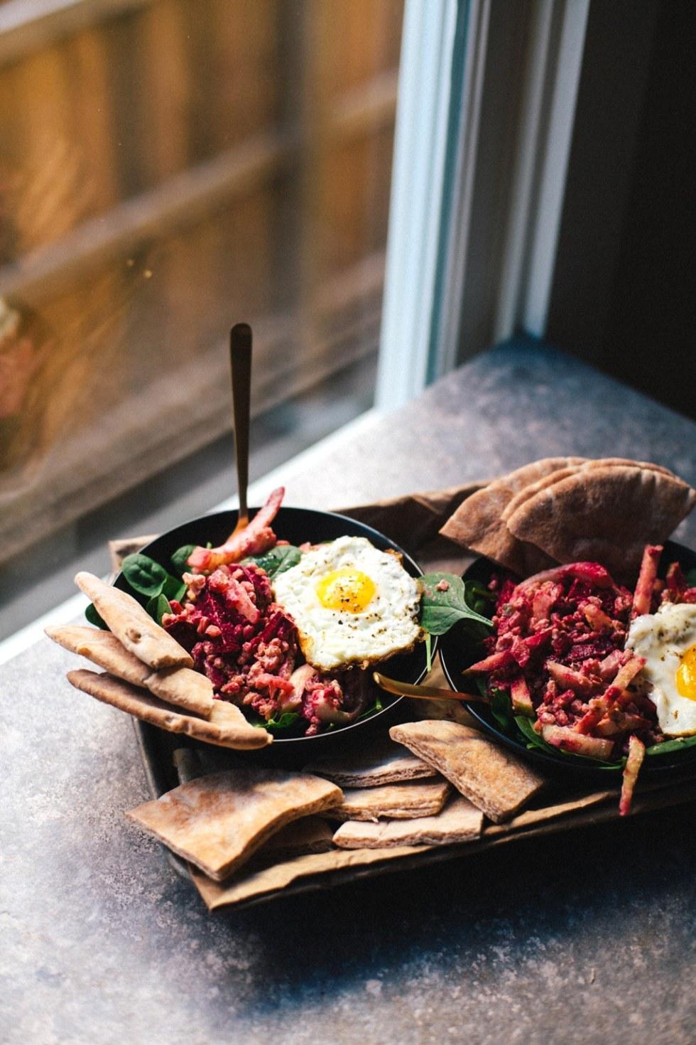 Beet Farro Mediterranean Salad | Brewing Happiness