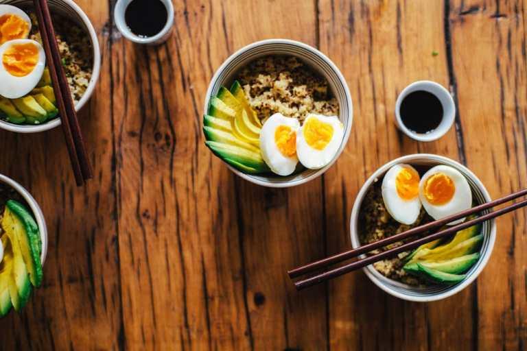 Asian Quinoa Snack Bowls