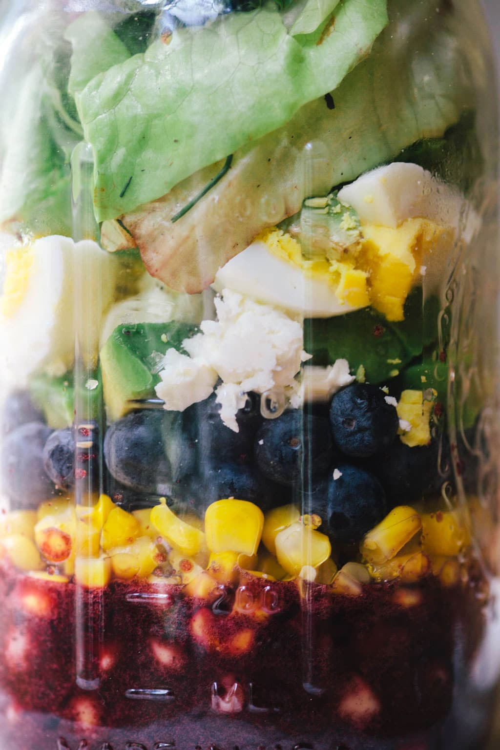 Vegetarian Blueberry Cobb Salad | Brewing Happiness