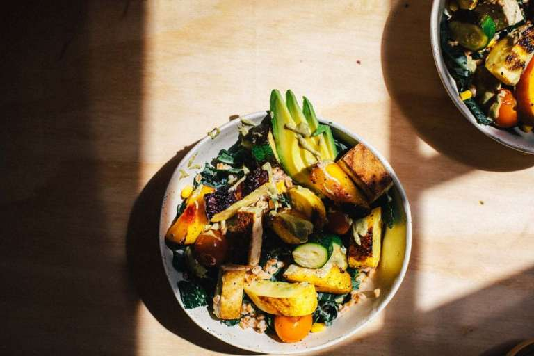 Grilled Summer Buddha Bowl Salad | Brewing Happiness