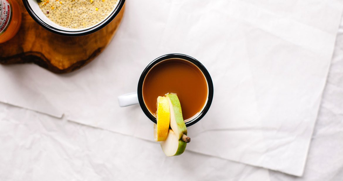 Pear Mint Morning Tonic | Brewing Happiness