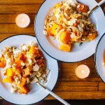 Ricotta Butternut Squash & Sweet Potato Thanksgiving Casserole | Brewing Happiness