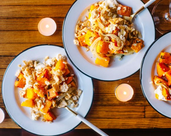Ricotta Butternut Squash & Sweet Potato Thanksgiving Casserole
