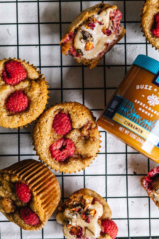 raspberry rose muffins