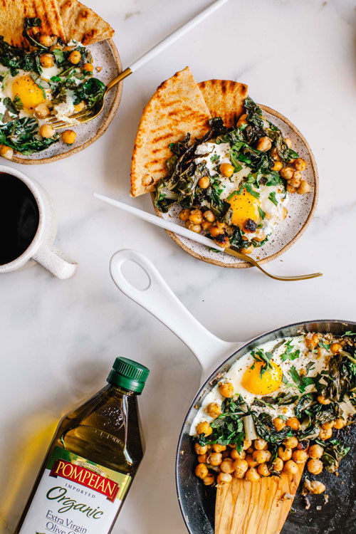 egg and yogurt breakfast skillet