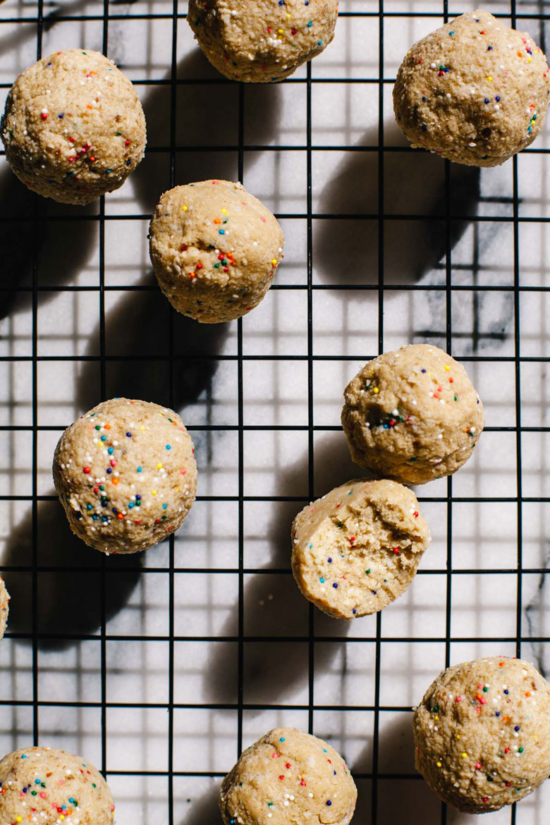 protein ball close up