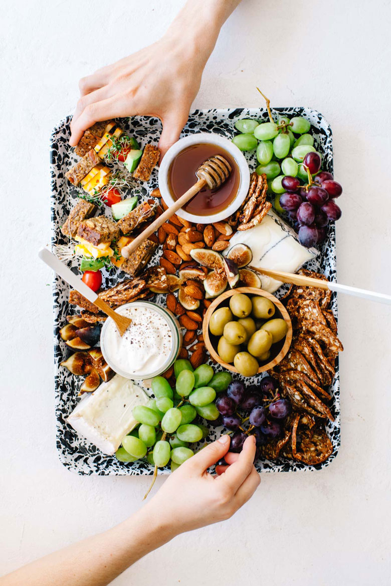 California Dreaming Cheese Board from Platters and Boards Cookbook #cheeseboard #healthy #california   Brewing Happiness