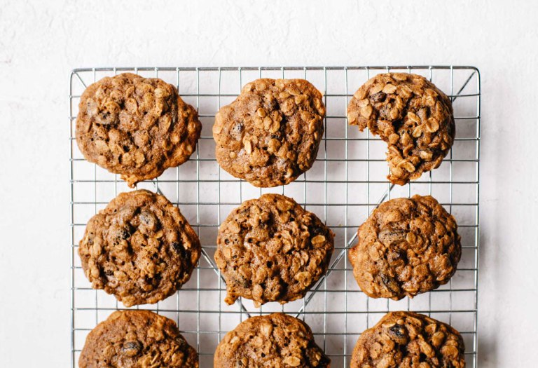 Teff Flour Oatmeal Raisin Cookies