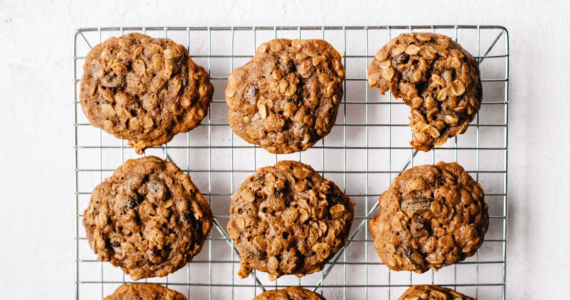 Teff Flour Oatmeal Raisin Cookies | Brewing Happiness
