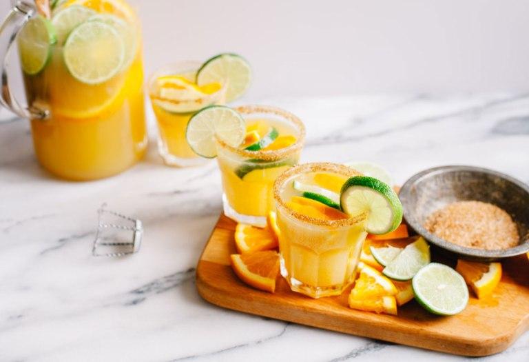 Margarita Mimosas for #margaritaweek | Brewing Happiness