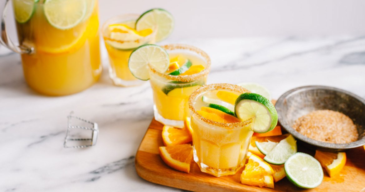 Margarita Mimosas for #margaritaweek | Brewing Happiness