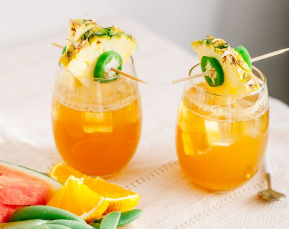 Jalapeno-Honey Pineapple Sparkler | Brewing Happiness